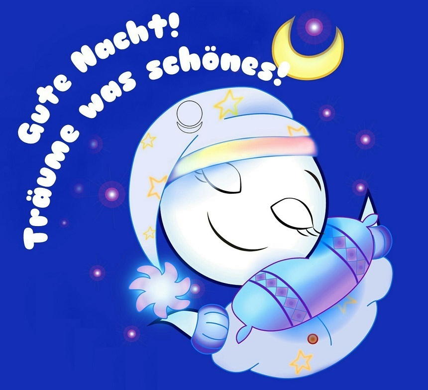 картинки спокойной ночи на немецком